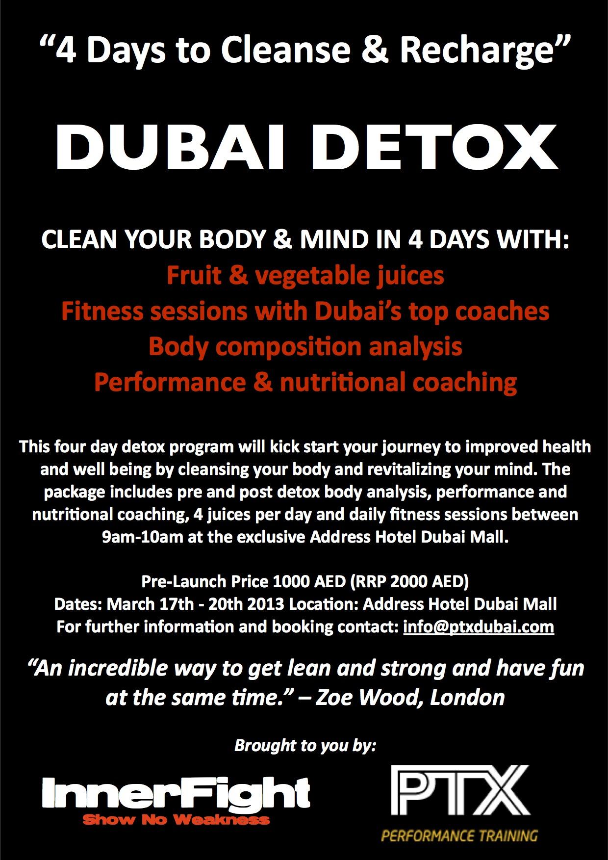 Dubai Detox Flyer